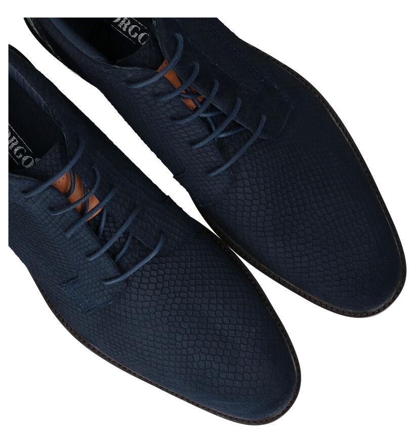 Via Borgo Chaussures hautes en Bleu foncé en nubuck (280921)