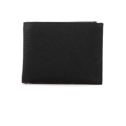 Crinkels Zwarte Portefeuille in leer (198044)