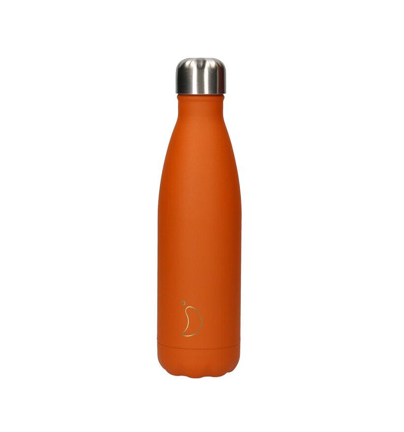 Chilly's Matte Burnt Oranje Drinkbus 500 ml (253155)
