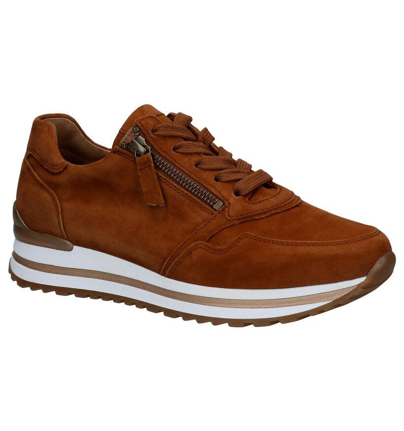Gabor Optifit Chaussures à Lacets en Cognac en daim (277811)