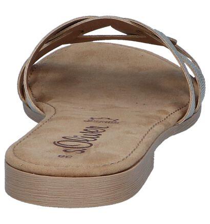 s.Oliver Nu-pieds plates en Or en cuir (242565)