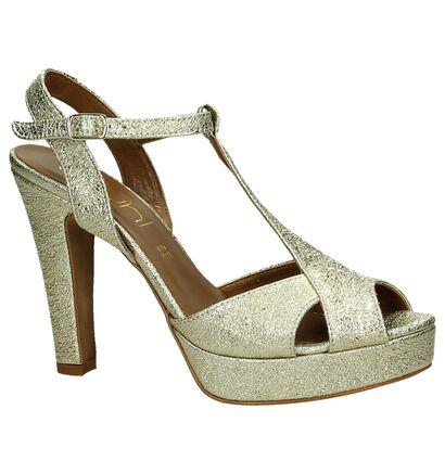 Youh! Gouden Sandalen High Heels in leer (195924)