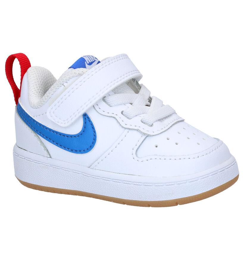 Nike Court Borough Low TD Baskets en Blanc en cuir (274594)