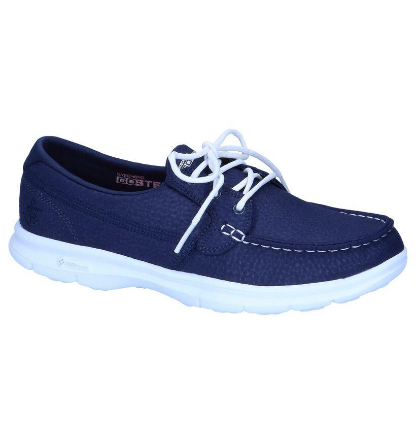 Skechers On-The-Go Chaussures bateau en Bleu foncé en textile (251896)