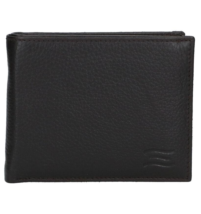 Crinkles Zwarte Portefeuille in leer (291836)