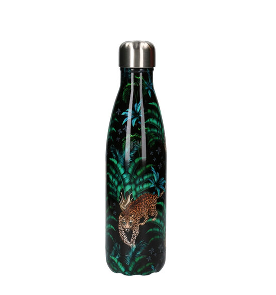 Chilly's Tropical Leopard Zwarte Drinkbus 500 ml
