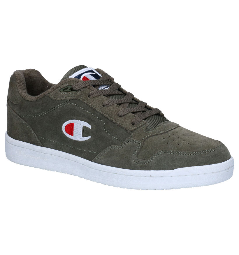 Champion New York Low Kaki Sneakers in stof (279083)
