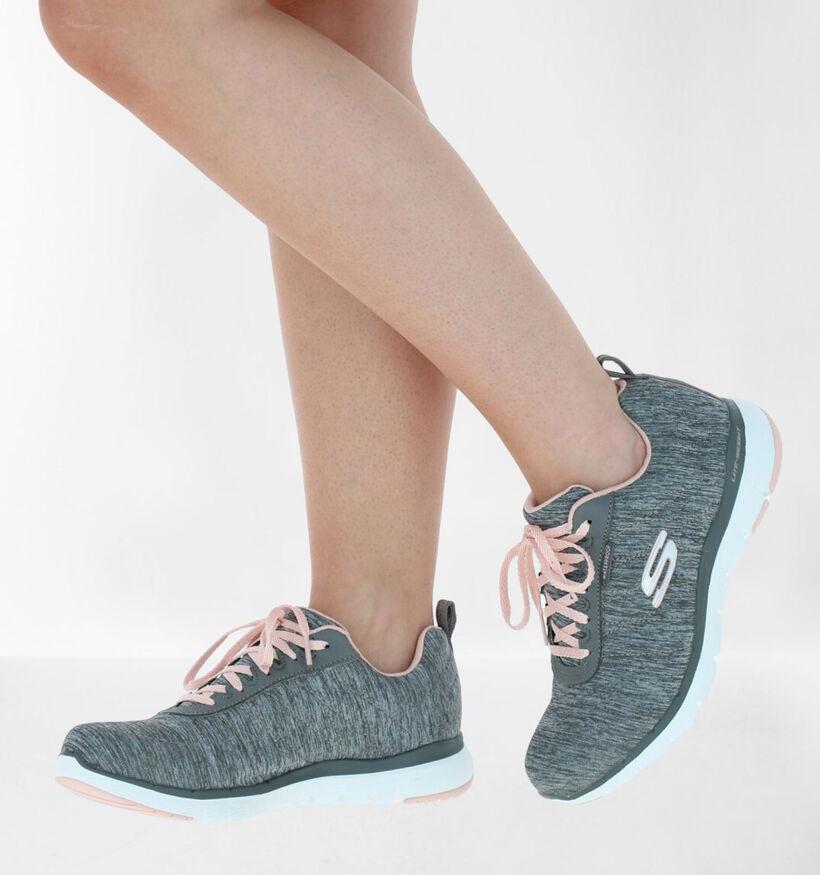 Skechers Flex Appeal 3.0 Baskets en Gris en textile (279353)