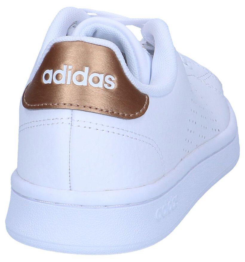 adidas VS Advantage Sneakers en Blanc en cuir (264883)