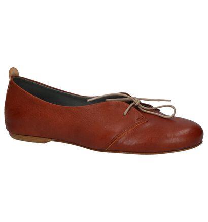 Lilimill Chaussures à lacets en Cognac en cuir (219808)