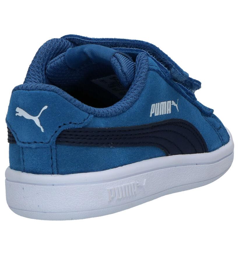 Puma Smash Baskets en Bleu en daim (265626)