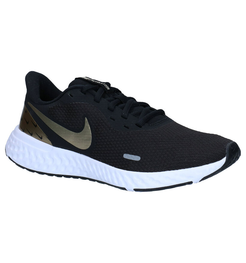 Nike Revolution 5 Zwarte Sneakers in stof (283868)