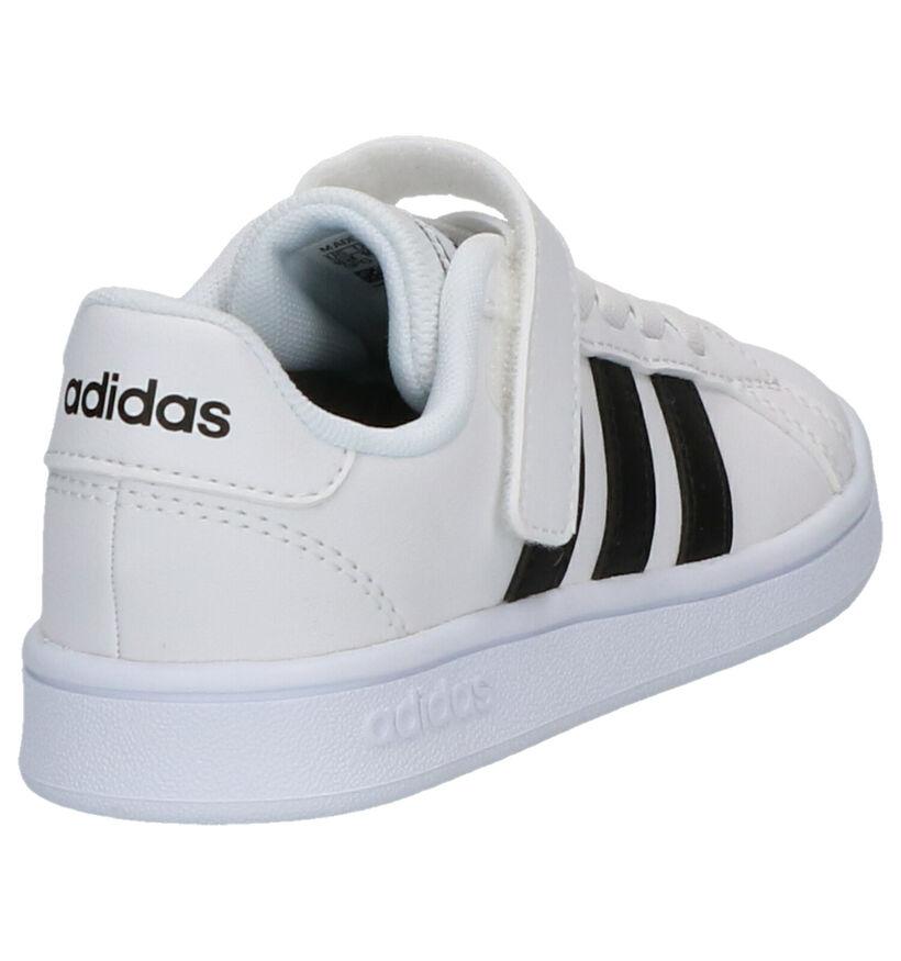 adidas Grand Court Zwarte Sneakers in kunstleer (290784)