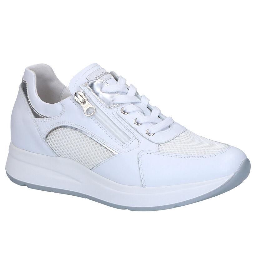 NeroGiardini Chaussures à lacets en Blanc en cuir (270545)