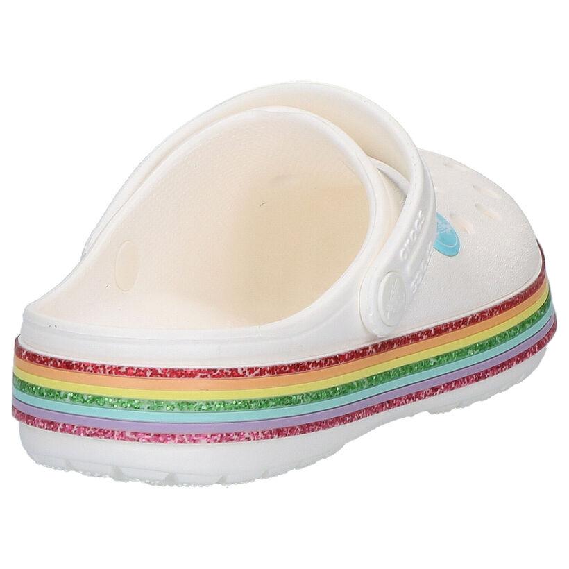 Crocs Crocband Rainbow Nu-pieds en Blanc en synthétique (269660)