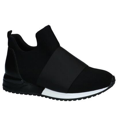 La Strada Zwarte Sneakers Gekleed in stof (229881)