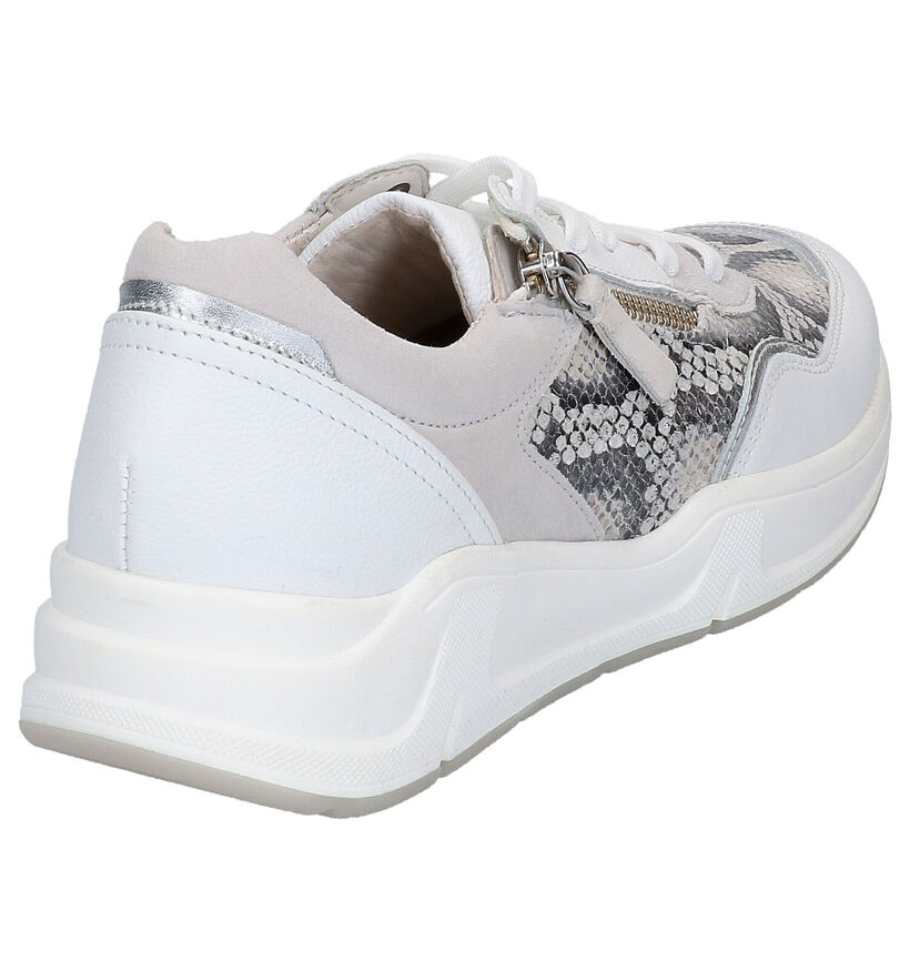 Gabor Optifit Witte Sneakers in leer (271543)