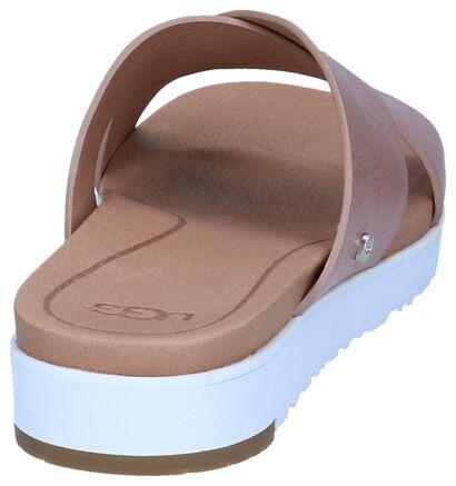 UGG Nu-pieds plates en Or rose en cuir (239587)