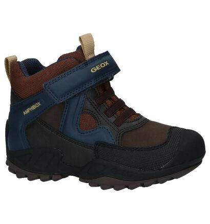 Multicolor Geox Amphiboiox Bottines met Velcro in stof (223160)
