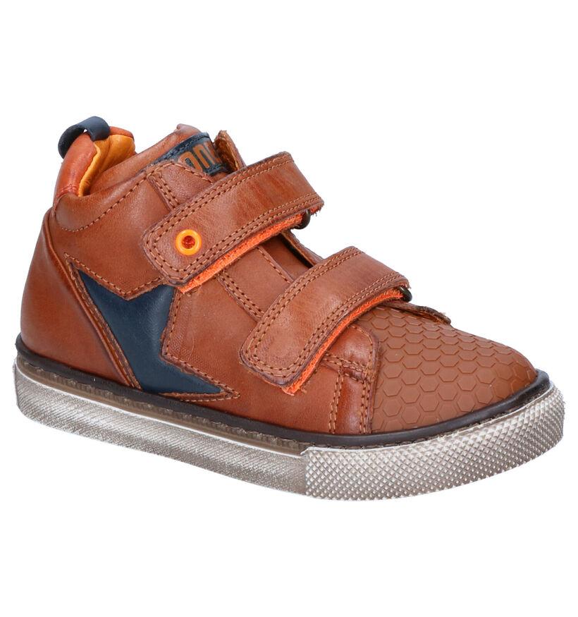 STONES and BONES Cognac Sneakers in leer (255488)