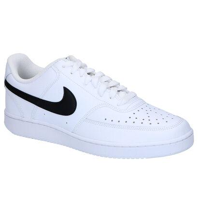 Nike Court Vision Witte Sneakers in kunstleer (265917)