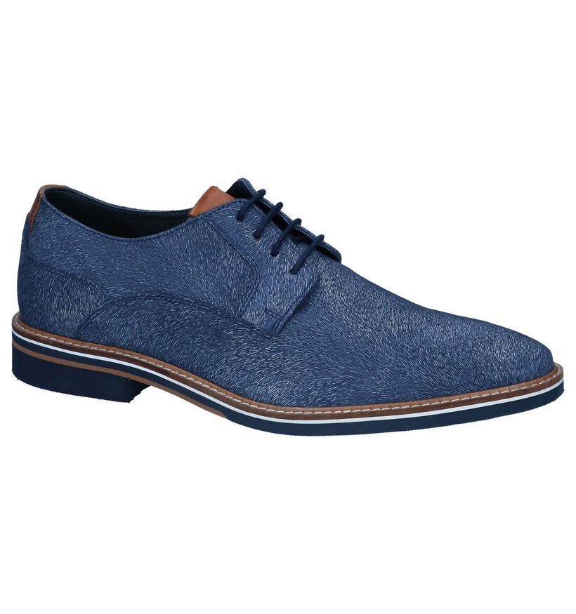 Chaos Chaussures habillées en Bleu foncé en nubuck (239270)