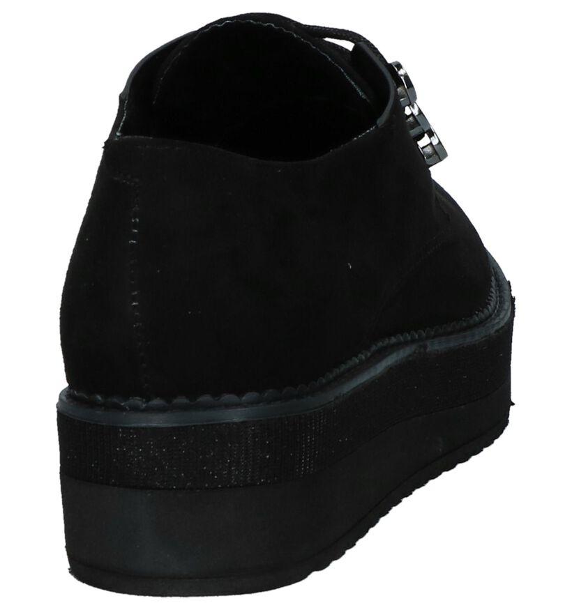 Zwarte Youh! Oxford Veterschoenen in stof (230437)