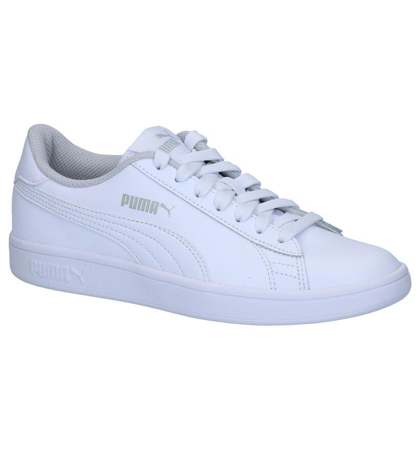 Puma Smash Sneakers en Blanc en cuir (265646)