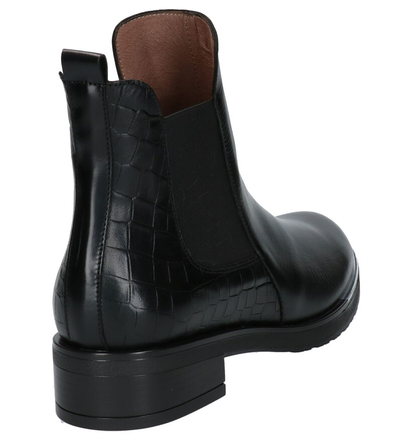 Wonders Zwarte Chelsea Boots in leer (259727)