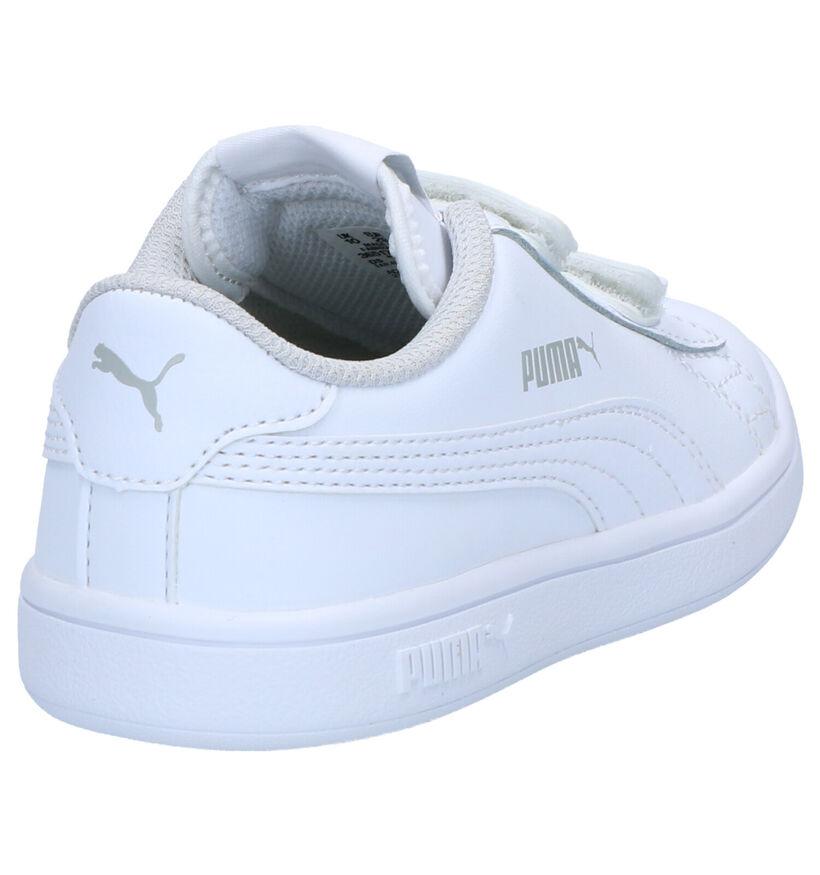 Puma Smash Baskets en Blanc en cuir (265647)