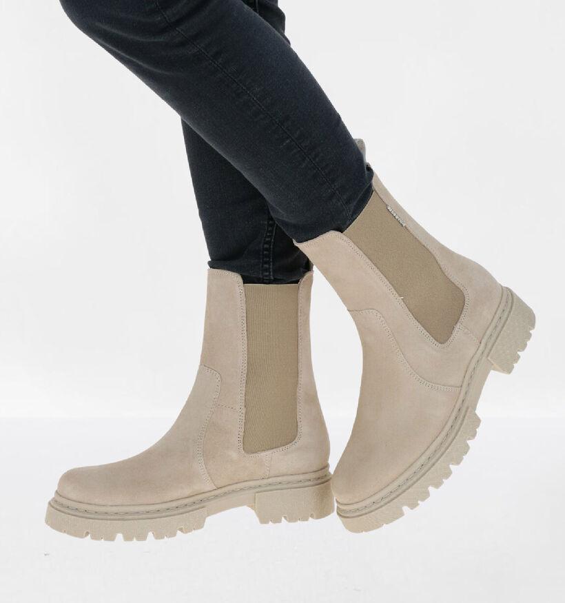 Bullboxer Beige Boots in nubuck (292716)