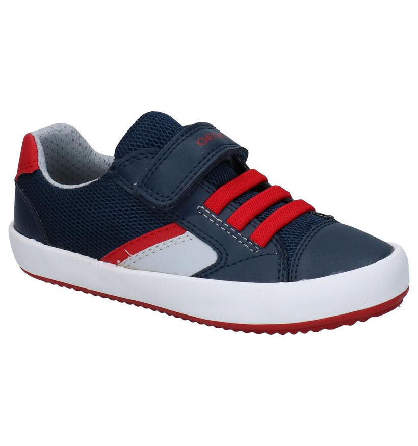 Geox Gisli Blauwe Sneakers in kunstleer (287079)