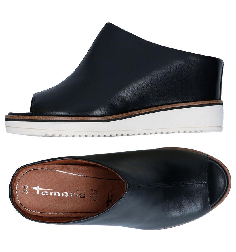 Tamaris TOUCH it Nu-pieds en Cognac en cuir (289404)