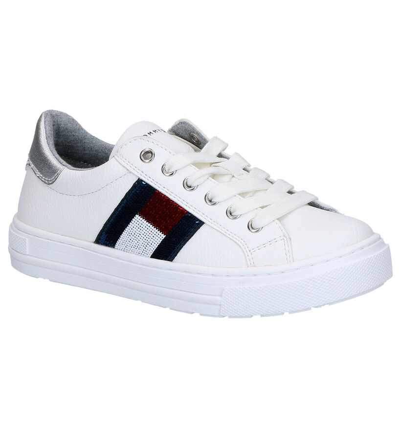 Witte Lage Sneakers Tommy Hilfiger in kunstleer (266563)