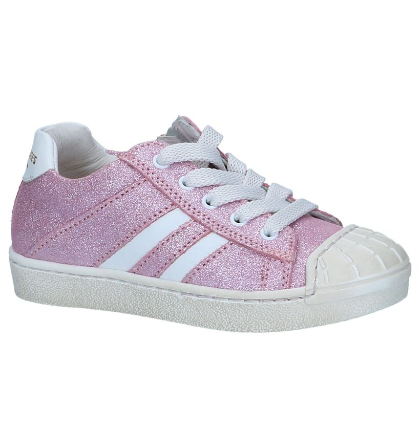 STONES and BONES Chaussures basses en Rose fuchsia en cuir (239866)