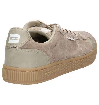Jack & Jones Olly Taupe Sneakers in daim (256274)