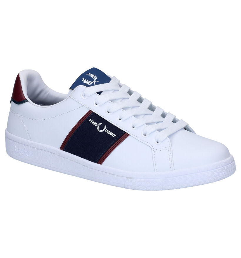 Fred Perry Baskets en Blanc en cuir (275064)