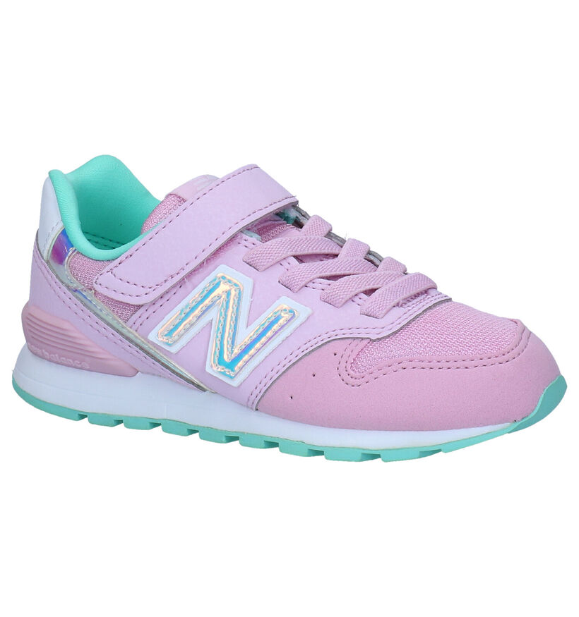 New Balance YV996 Baskets en Rose en simili cuir (276832)