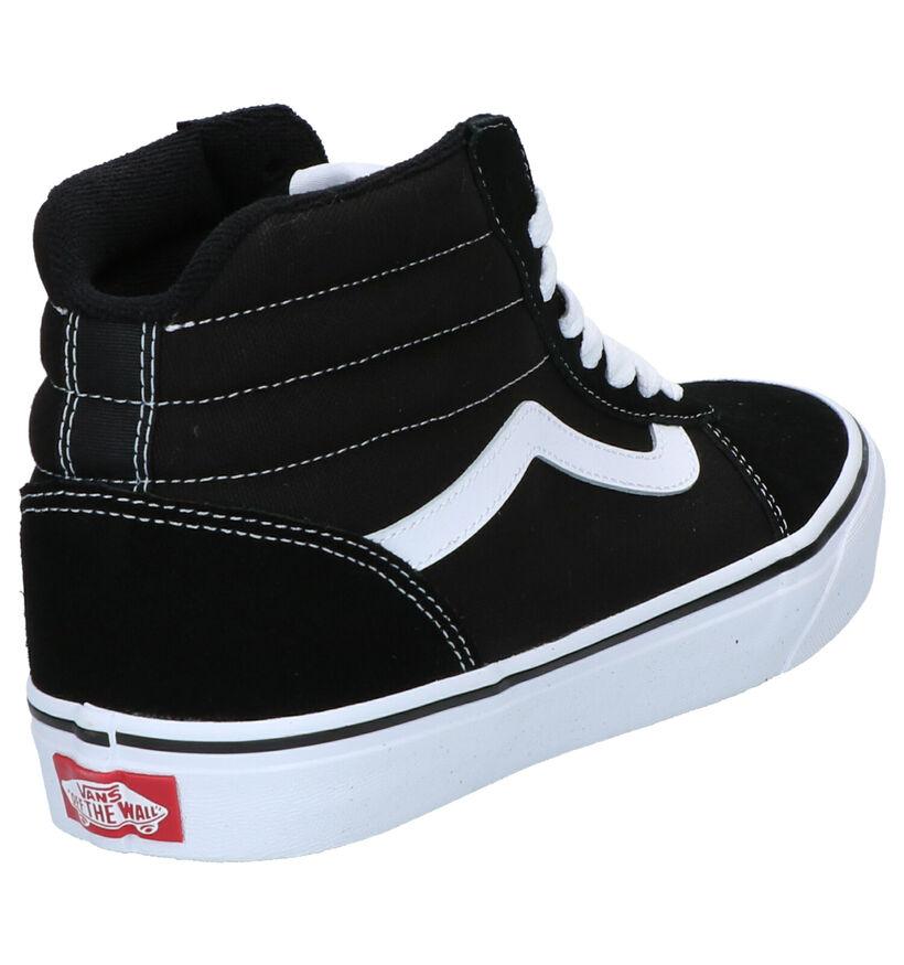 Vans Ward Hi Zwarte Skateschoenen in daim (253477)