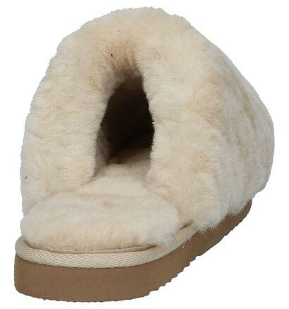Licht Beige Pantoffels Warmbat Mungo in wol (234553)