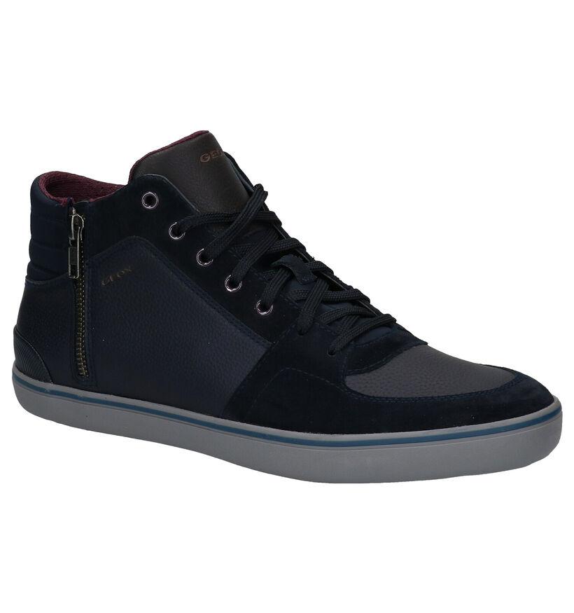 Geox Elver Chaussures hautes en Bleu en cuir (279589)