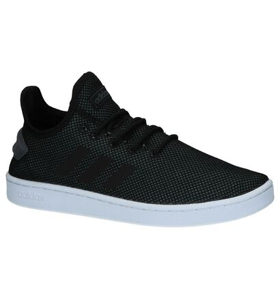 adidas Court Adapt Baskets en Noir en textile (237219)