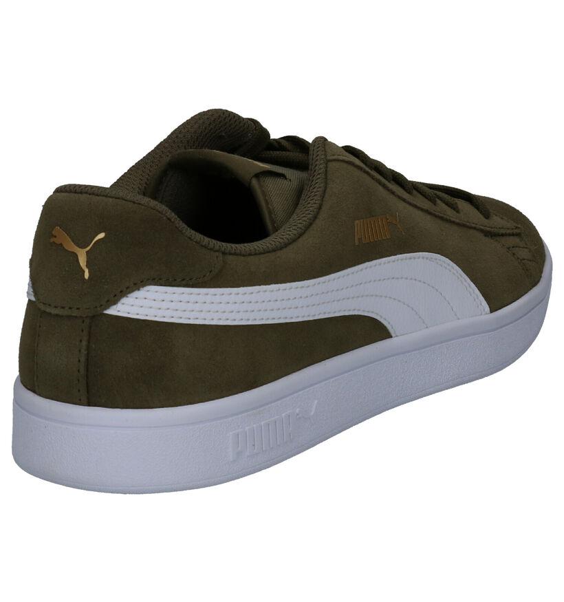 Puma Smash Zwarte Sneakers in nubuck (288559)