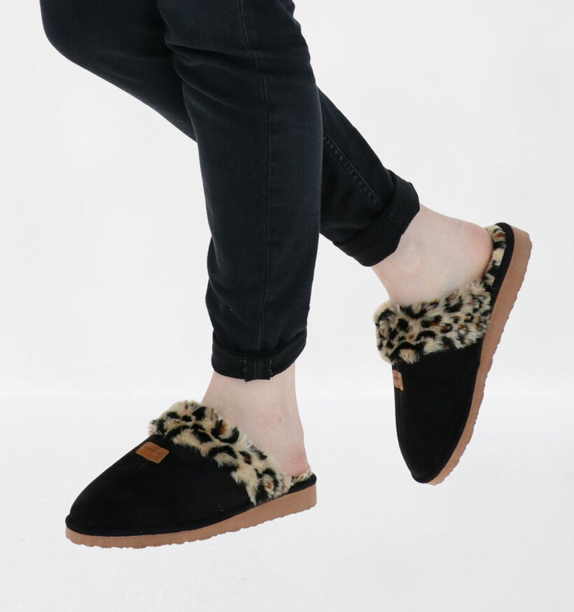 Patrizia Zwarte Pantoffels in stof (292893)