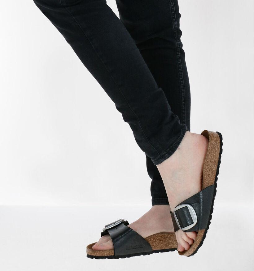 Birkenstock Madrid Zwarte Slippers in kunstleer (281713)