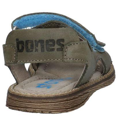 Groene Geklede Sandalen STONES and BONES Dado in leer (212104)