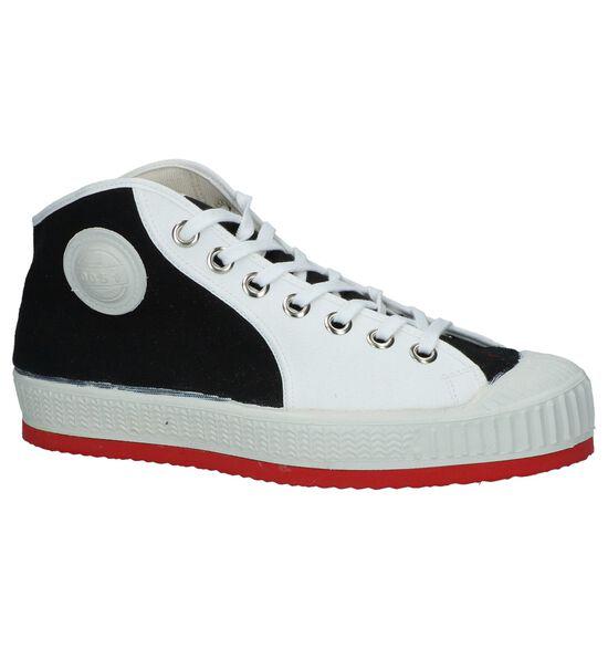 Zwart/Witte Hoge Sneakers 0051 Anton