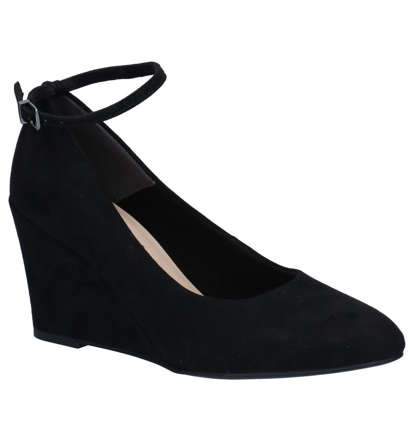 Tamaris Touch It Zwarte Pumps in stof (280781)