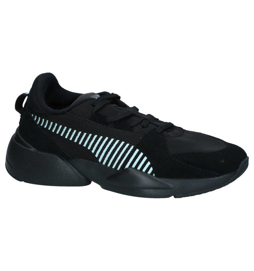 Puma Baskets basses en Noir en textile (239360)