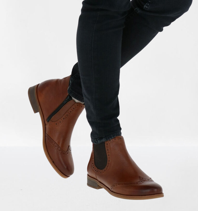 Remonte Chelsea Boots en Cognac en cuir (282745)